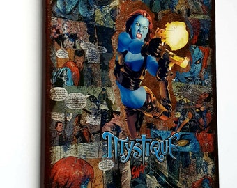 Mystique - Marvel Graphic Canvas by StarkeMatter - Superhero Comic Book Art Home Decor Wall Art Canvas Comic Book Art / Superhero Wall Art