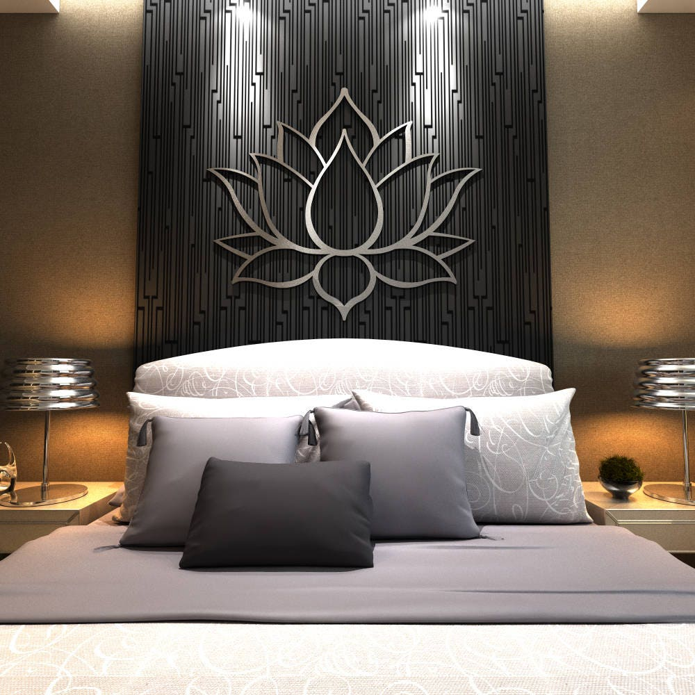 oversized wall art xl lotus flower metal wall contemporary sculpture 29961