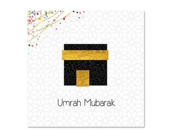 Umrah Mubarak Islamic Greeting Card