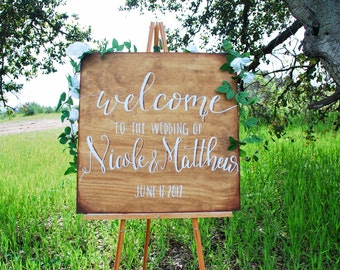 Wedding Welcome Sign - Oak and Umber