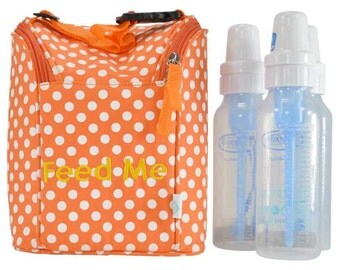 Easy Baby Insulated Feed Me Tote in Polka Dot for Bottles and Perishables