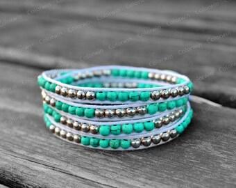 Wrap Bracelet Crystal Bracelet Cuff Bracelet Beaded Bracelet Birthday Gift For Her
