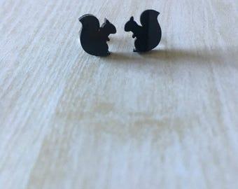Squirrel Acrylic Earrings - Squirrel Earrings - Animal Earrings