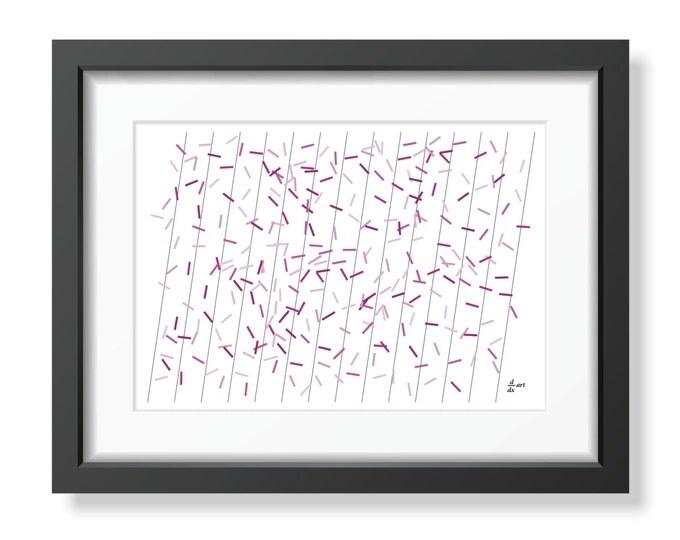 Pi sticks 08 [mathematical abstract art print, unframed] A4/A3 sizes