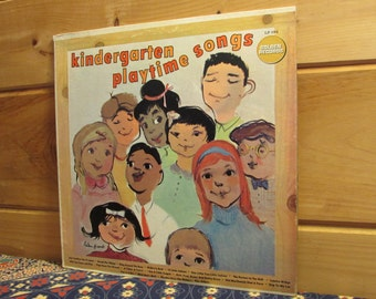 Kindergarten Playtime Songs With The Golden Singers And Orchestra - 33 1/3 Vinyl Record