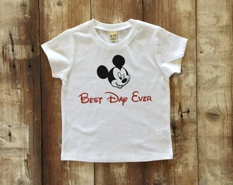 Mickey Best Day Ever Short Sleeve T-Shirt!