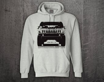 Jeep Hummer hoodie, Jeep Life hoodies, Jeep hair hoodies, Unisex hoodies Off Roader hoodies, Jeep t shirts, Funny t shirt, Hummer H2 sweater
