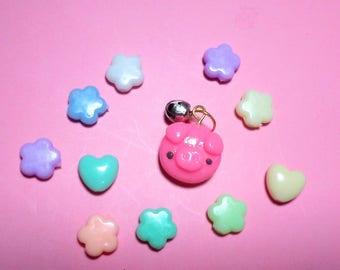 Kawaii Clay Charm - Little Baby Piggy Charm - Polymer Clay Kawaii - Cute Accessories - Bag Charm - Planner Charm - Piggy