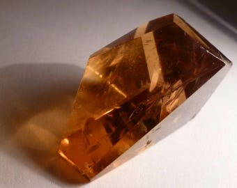 Huge Freeform Faceted Citrine 90 cts.