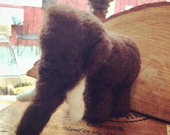 Needle Felted Woolly Mammoth