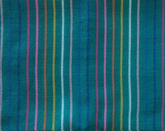 Mexican Rebozo like Folk Fabric Supply, Mexican Table Runner,Mexican Table cloth, Bohemian Aztec, Geometric design,Mexican Fabric by yard MX