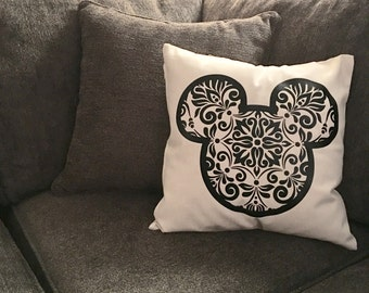 Disney Inspired Mickey Mouse Pillow Cover Disney Home Decor Mickey Home Decor Decorative