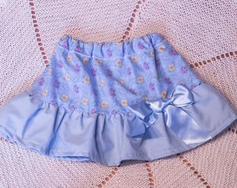 Cool Blue Baby Girl Ruffle Skirt