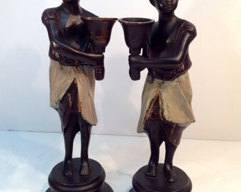 Blackamoore servant boys (bronze)