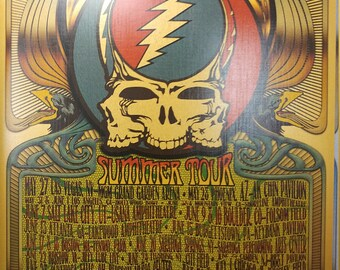 Limited 2017 Dead & Co. Summer Tour 3 Skull GOLD/SILVER/WHITE 11x17 Posters