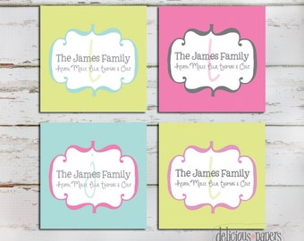 family enclosure cards • enclosure cards • personalized enclosure cards • family calling cards • gift tags • personalized gift tags