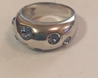 Yves Saint Laurent silver ring size 6