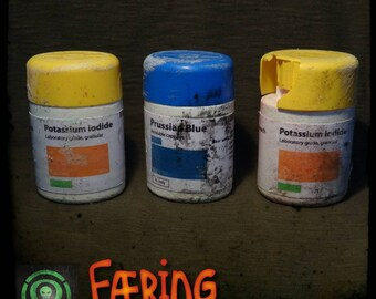 Post apocalypse anti radiation pill containers - GAME PROP - Live Action Role Play