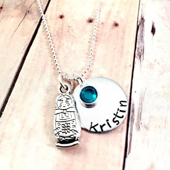 Matryoshka doll charm necklace charm necklace doll necklace