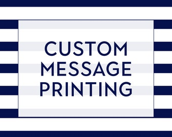 Custom Message Printing // Print a Custom Message Inside Your Greeting Card // Add On