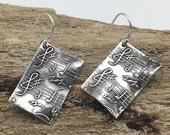 Handmade Silver Musical Earrings Music Sheet | Silver Music Earrings w/ Music Notes | Music Jewelry for Music Lover | Unique Gifts for Women