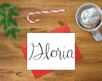 Gloria Card | Printable Christmas Card