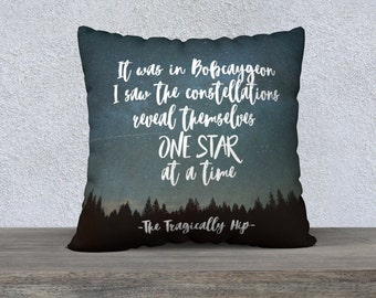 The Tragically Hip, Pillow Cover, Tragically Hip quote, Gord Downie, Bobcaygeon