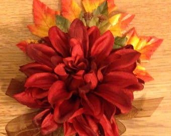 Fall treasures corsage