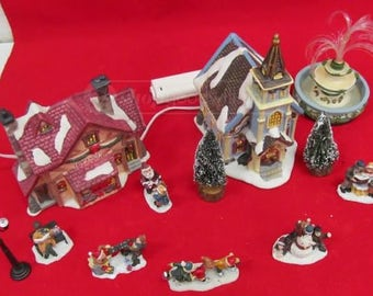 Dept. 56 Snow Village Toy Store and Church