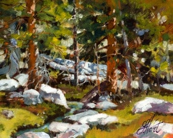 Landscape Painting, Forest Painting, Wind Rivers Painting, Wyoming Art