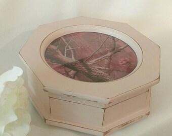 Pink camo jewelry box