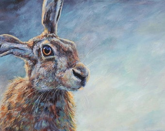 Misty. Hare painting