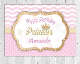 Princess Backdrop / Printable / Princess Birthday