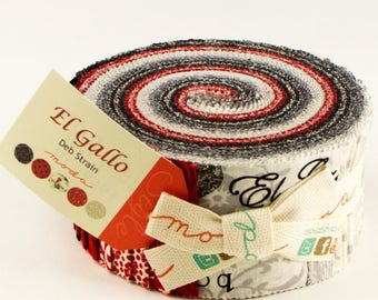 "Moda EL GALLO Jelly Roll 19690JR 40 2.5"" Fabric Strips By Deb Strain"