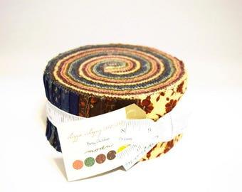 "Moda LIZZIE'S LEGACY 1850-1880 Jelly Roll 31510JR 40 2.5"" Quilt Fabric Strips"