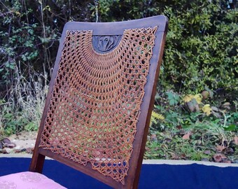 Arts & Crafts Period Chair, Small Nursing Chair, Vintage nursing Chair, Little Bedroom Chair, Rattan Back Chair, Kids /Children's Chair.