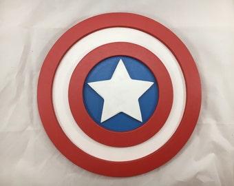 Capt America Sign - 12inch round - 3D
