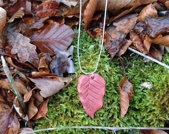 Fallen leaf pendant