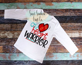 FREE SHIPPING***CHD Heart Warrior Baby Infant and Youth Sizes. chd Heart Awareness Month, Congenital Heart Disease, February, nicu
