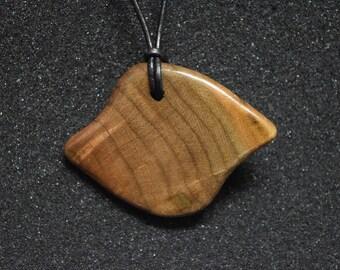 Figured Walnut Pendant Necklace