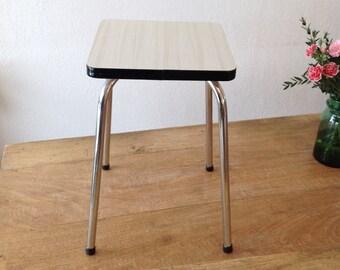 Stool White Formica / white stool