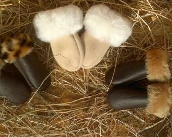 Real fur Baby gloves,Lambskin gloves, Bébi kiskesztyű