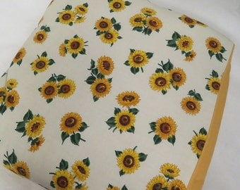 Handmade Birght and Beautiful Sunflower Quillow