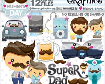 Father Clipart, Father Graphic, COMMERCIAL USE, Planner Accessories, Father's Day Clipart, Daddy Clipart, Father Clip Art