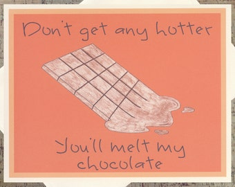 Funny Valentine Card, Chocolate Card, Funny Romance Card, Funny Love Card, Funny Anniversary Card, Funny Relationship Card, Chocolate Lover