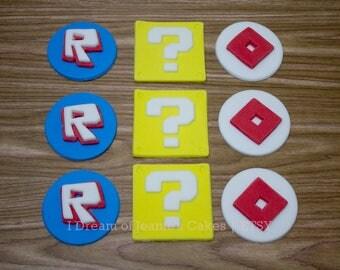 ROBLOX Video Gamer, Lucky Blocks, Birthday Cupcake Toppers
