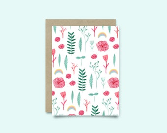 Greeting card - spring pattern