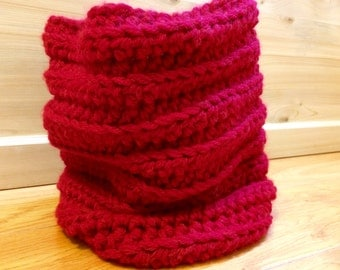 crochet neck warmer; crocheted neck warmer; cowl; snood scarf