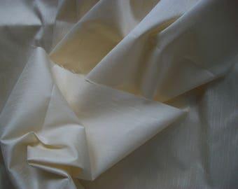 Poly Dupioni Cream Fabric 4.875 Yards