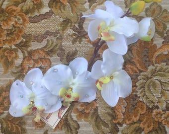KALANI - handcrafted pinup hair flower, bridal, wedding (WHITE)
